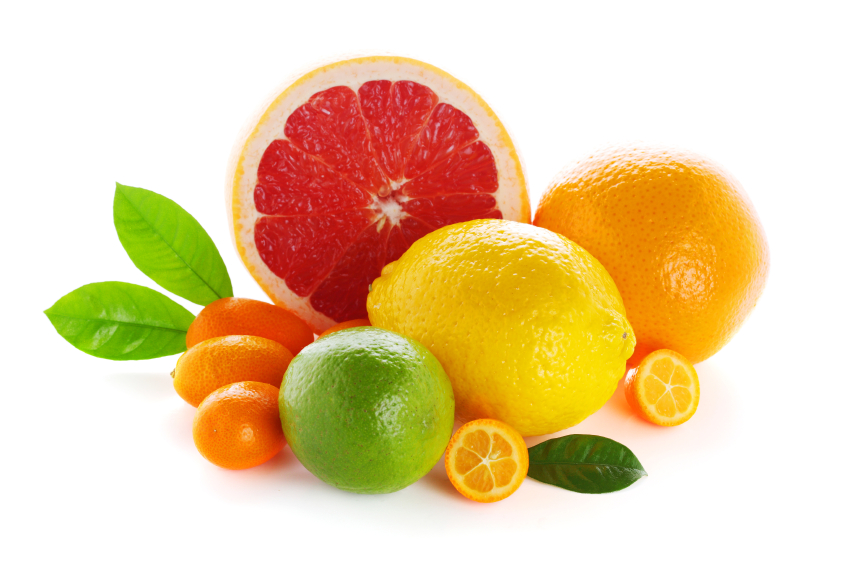 Citrus fresh fruit isolated on a white background