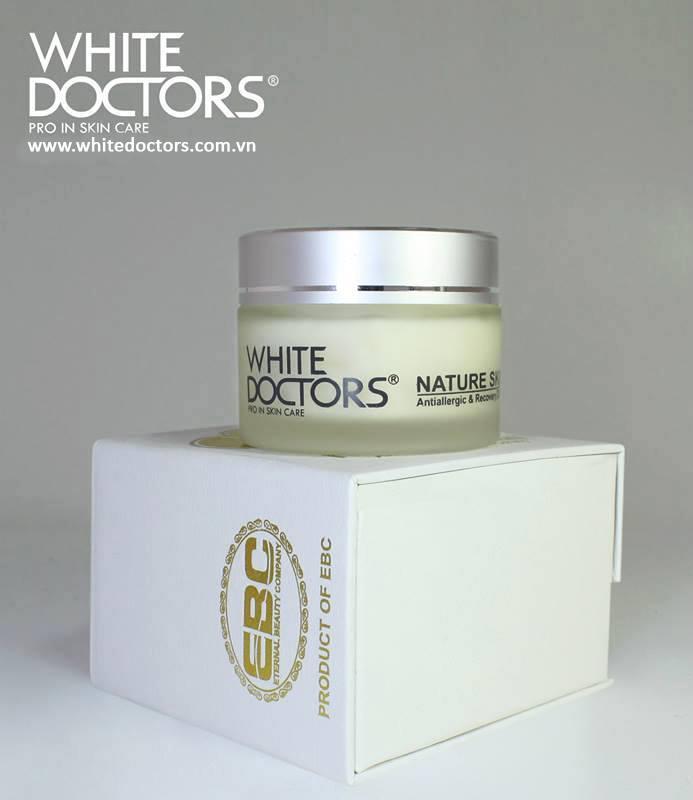 Kem chống dị ứng và kích ứng White Doctors Nature Skin, white doctors, mỹ phẩm sakura , kem sakura,nhau thai cừu, sữa ong chúa
